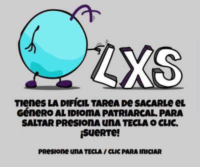 Lxs v1. Screenshot inicio